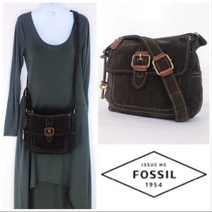 Fossil Corduroy Convertible Shoulder to Crossbody